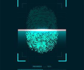 Skener otisk prstu fingerprint vector