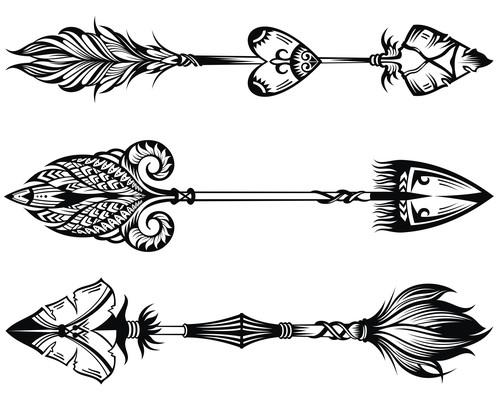 Sketch arrows vector