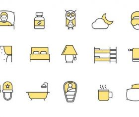 Sleeping Icons vector