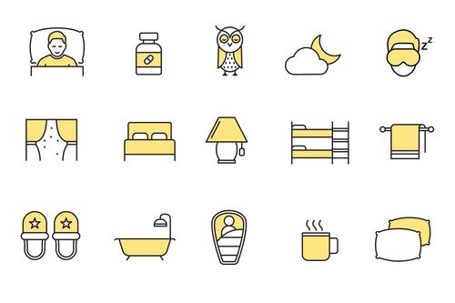 Sleeping Icons vector