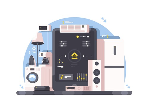 Smart Home Conceptual Illustrations vector