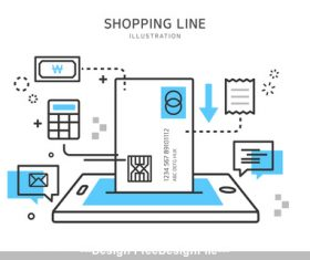 Smartphone shopping illustration vector