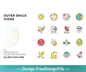 Space filled color vector