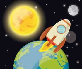 Space illustration background vector