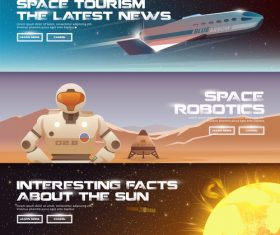 Space technology banner vector