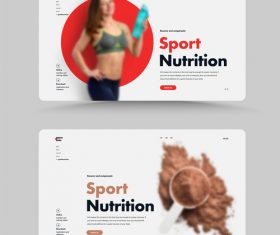 Sport nutritionist website home design vector