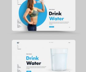 Sports drink water vector cover