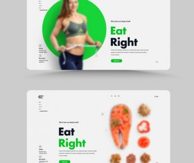 Sporty diet web design vector