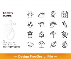 Spring outline vector
