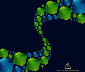 Square curve vector illustration