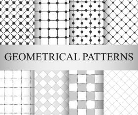 Square seamless patterns vector