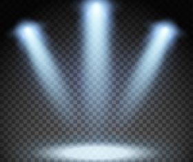 Stage light effects vector