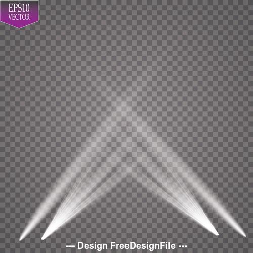 Stage spotlights effect vector