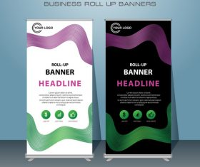 Stand Banner design vector template