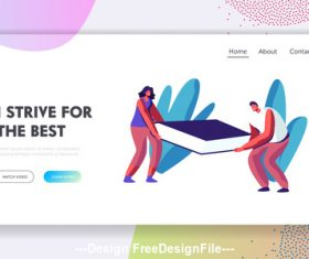 Strive for the best flat banner vector