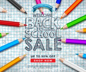 Student supplies special offer vector