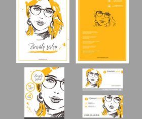 Stylish template brochure design vector
