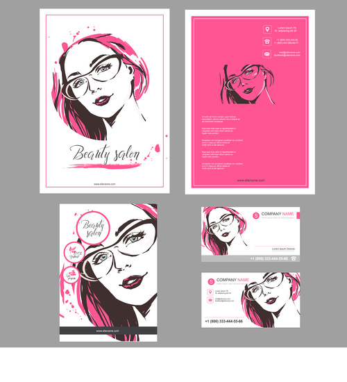 Stylish template for design of cards, flyers, posters, brochures and flyers