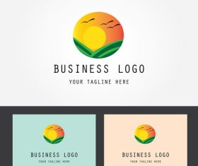 Summer business logo design vector