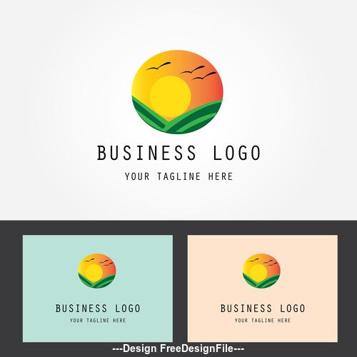 Summer business logo design vector
