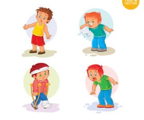 Summer child infectious disease cartoon vector