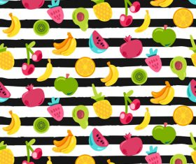 Summer fruit background vector