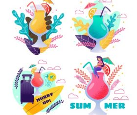 Summer holiday travel and drink vector