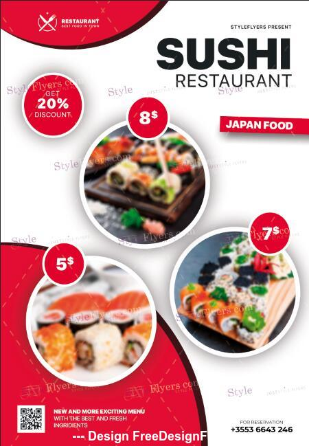 Sushi Flyer psd template