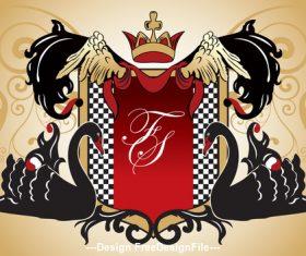 Swan and heraldic vector