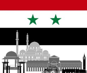 Syria collection of different architecture vector