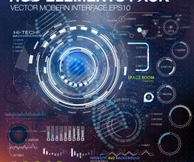 Tech information backgrounds vector