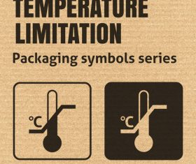 Temperature limitation packaging symbol vector