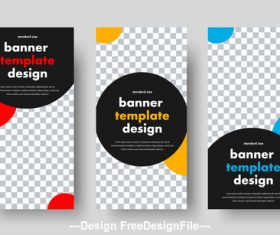 Templates for web banners with space vector