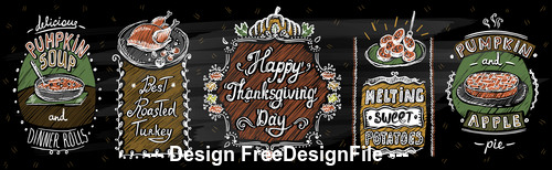 Thankgiving menu vector