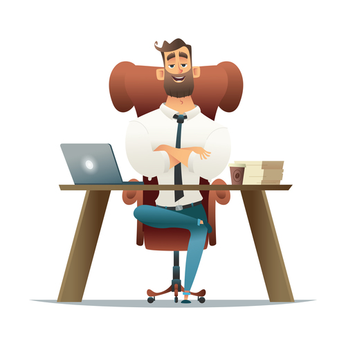 The Businessman vector in the office