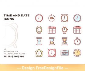 Time filled color vector
