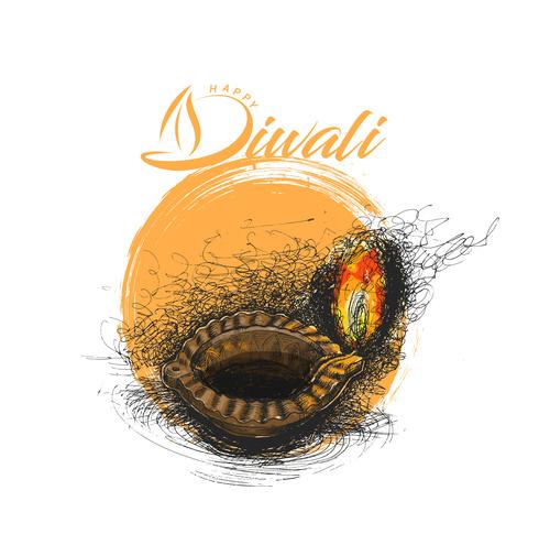 Traditional holiday diwali festival vector