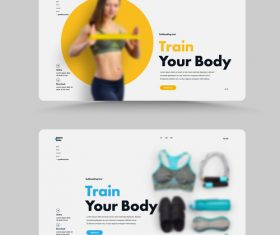 Train your body homepage design vector