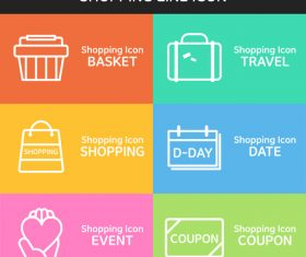 Travel shopping line icon vector