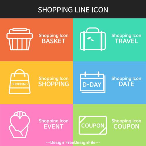 Travel shopping line icon vector