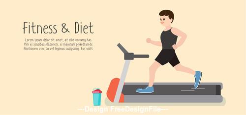 Treadmill sport vector