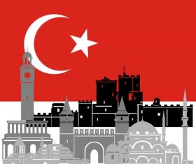 Turkey collection of different architecture vector