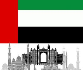 United Arab Emirates collection of different architecture vector