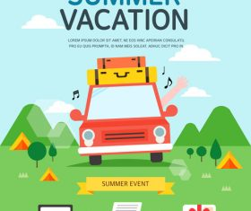 Vacation travel vector
