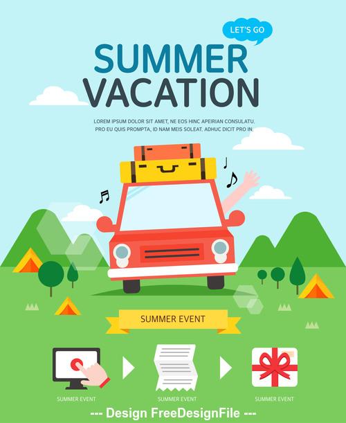 Vacation travel vector