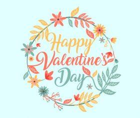 Valentines day garland background vector