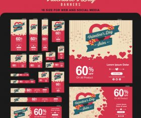 Valentines day promotional label vector