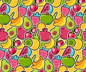 Various fruits Seamless patterns vector