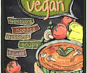 Vegetarian soup vector