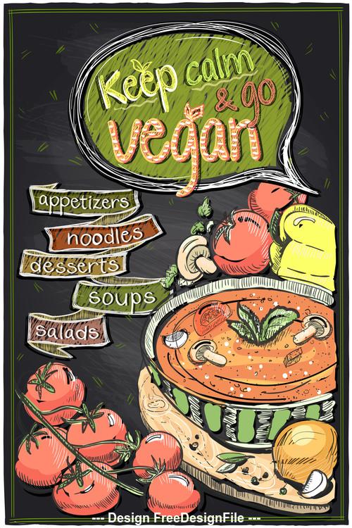 Vegetarian soup vector